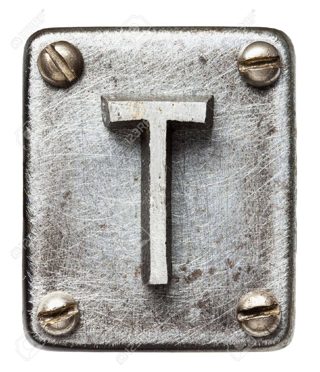 Metal Letter T Old Metal Alphabet Letter T Stock Photo Picture And Royalty Free