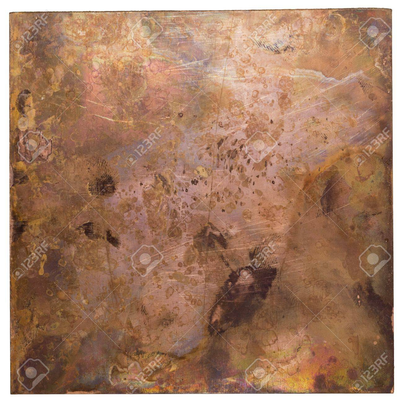 Copper plate texture, old metal background Stock Photo - 17977266