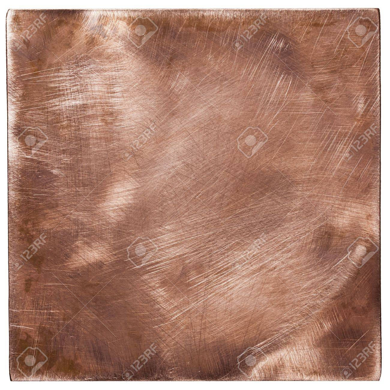 Copper plate textures, old metal backgrounds, isolated Stock Photo - 17977287