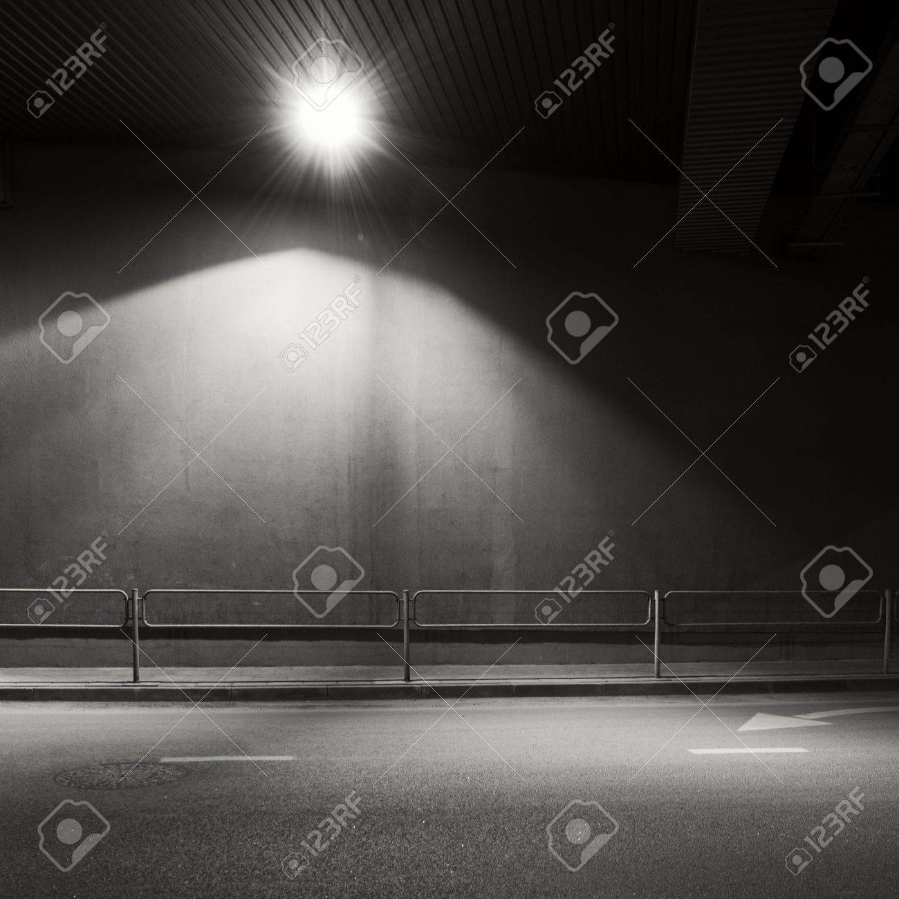 Tunnel road area with spotlight Stock Photo - 19285913
