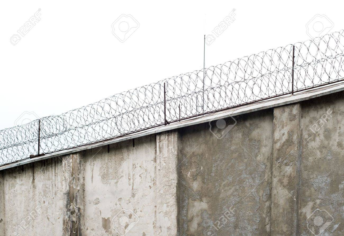 Prison wall, old jail fence. Stock Photo - 20343675