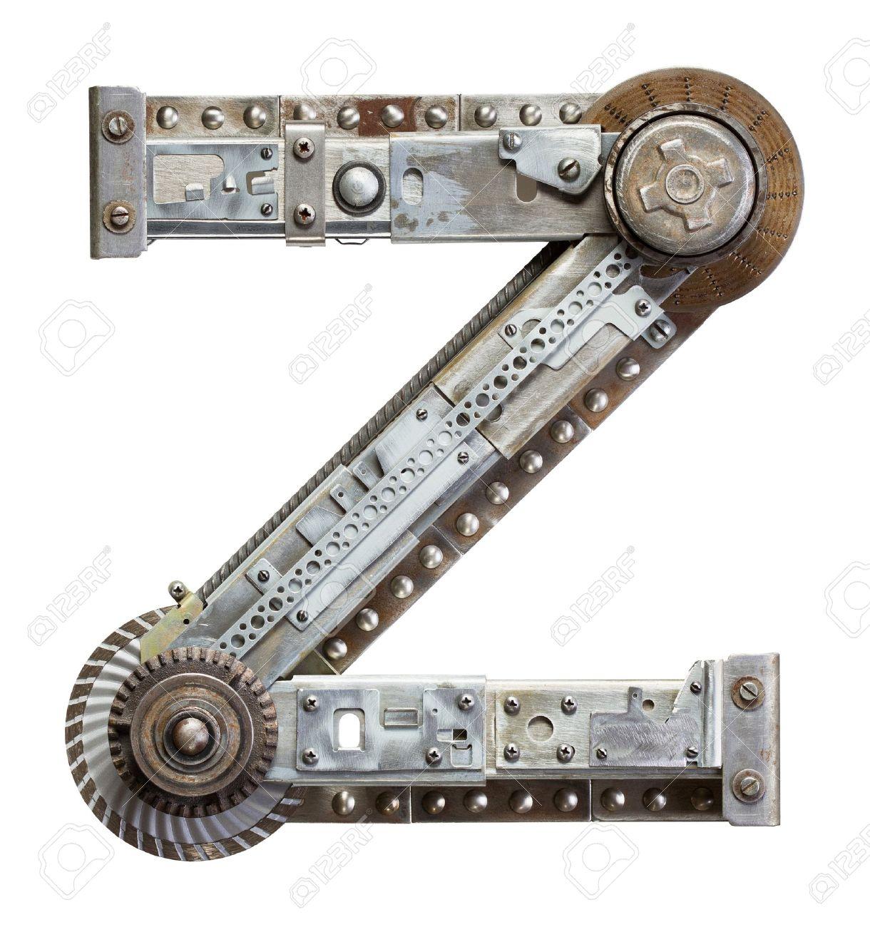 Industrial metal alphabet letter Z Stock Photo - 20343640