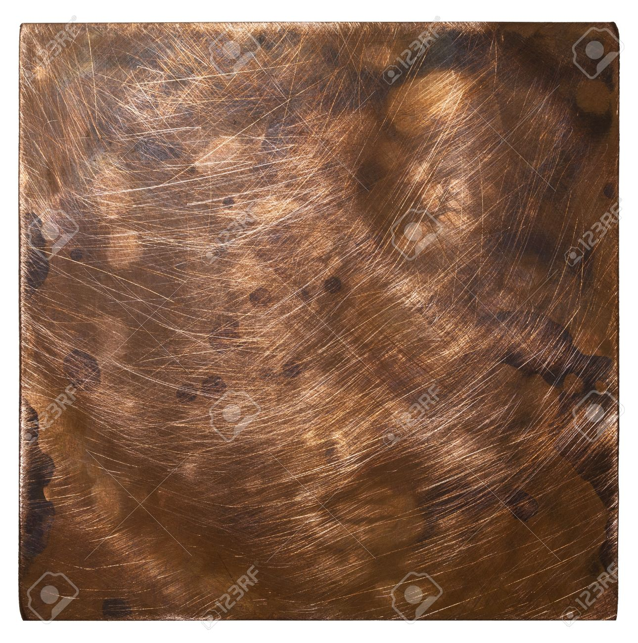 Copper plate texture, old metal background. Stock Photo - 22143572