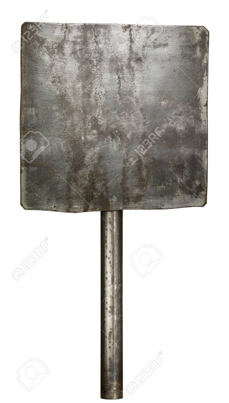 Metal sign isolated on white Stock Photo - 27508790