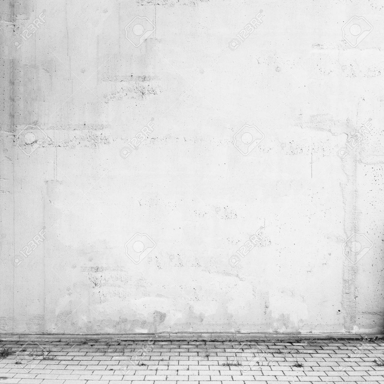 Empty Concrete Street Wall Texture