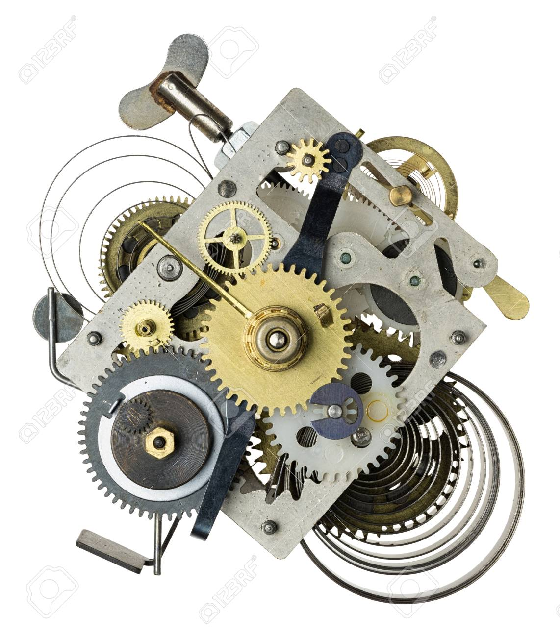ab0201e208b Stock Photo - Stylized metal collage of clockwork.