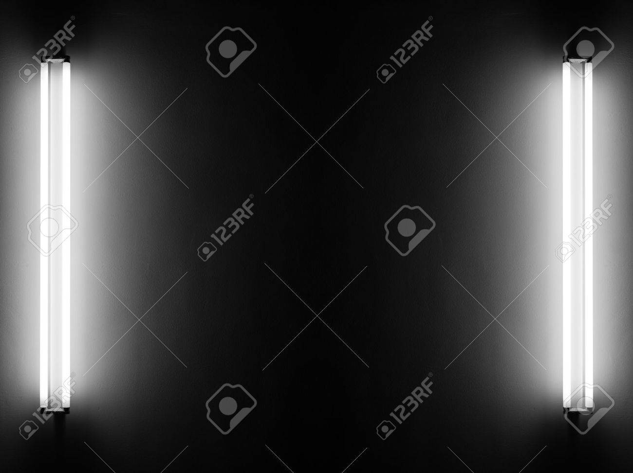 Fluorescent light tubes on the wall Stock Photo - 30409638