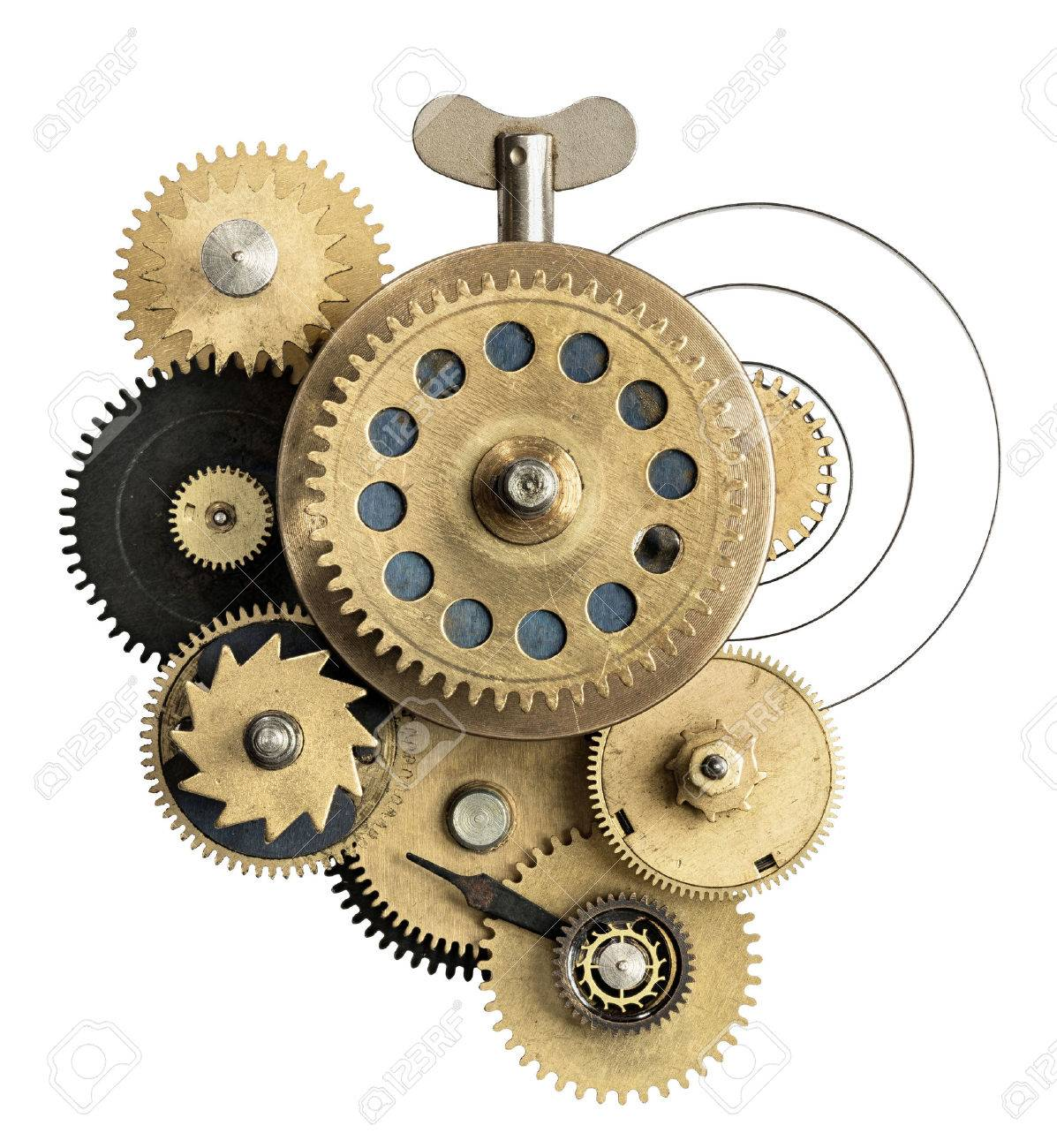 Stylized metal collage of clockwork. Stock Photo - 30409642