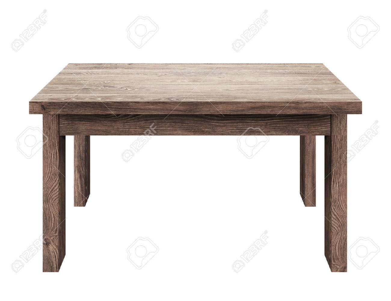 Wooden table isolated on white background Stock Photo - 31206898