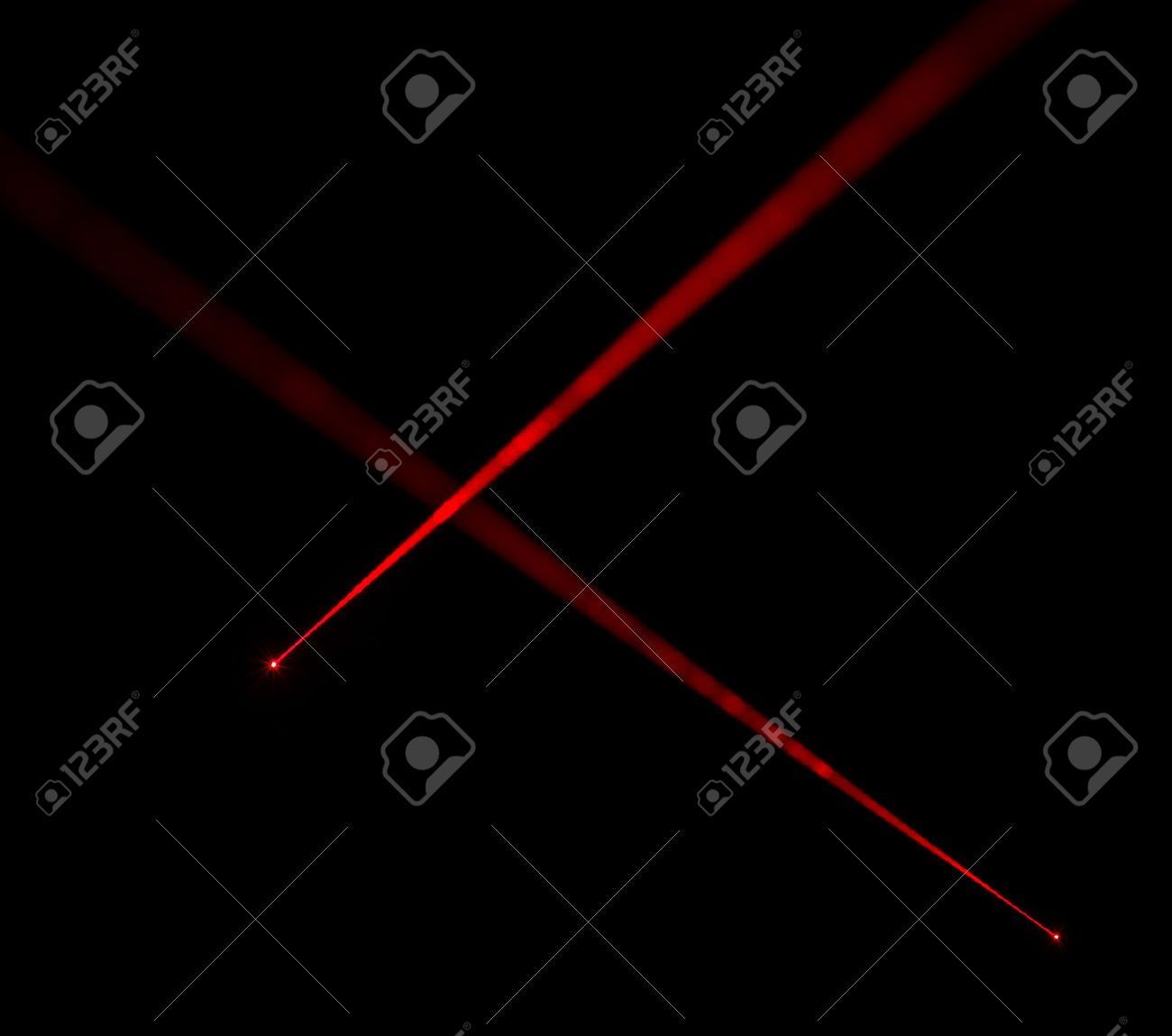 Red laser beams on black background Stock Photo - 33210987