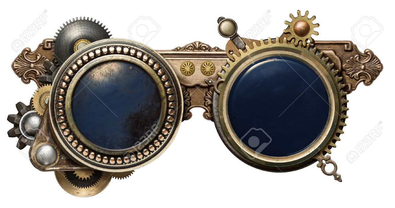 c6ce1e5d842 Steampunk Glasses Metal Collage