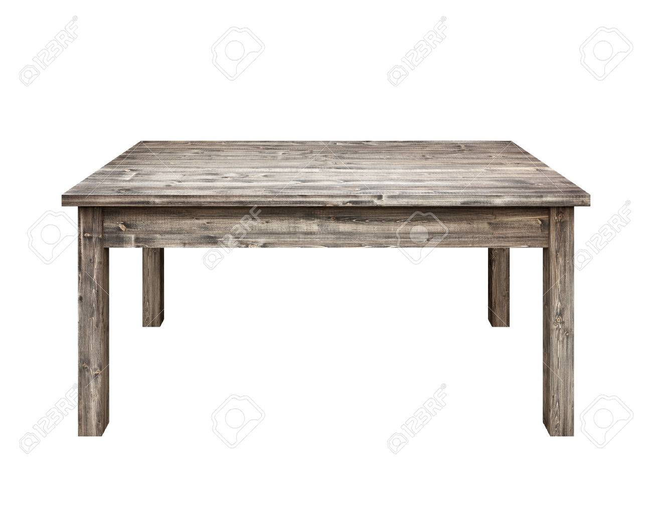 Wooden table on white background. Stock Photo - 36625589