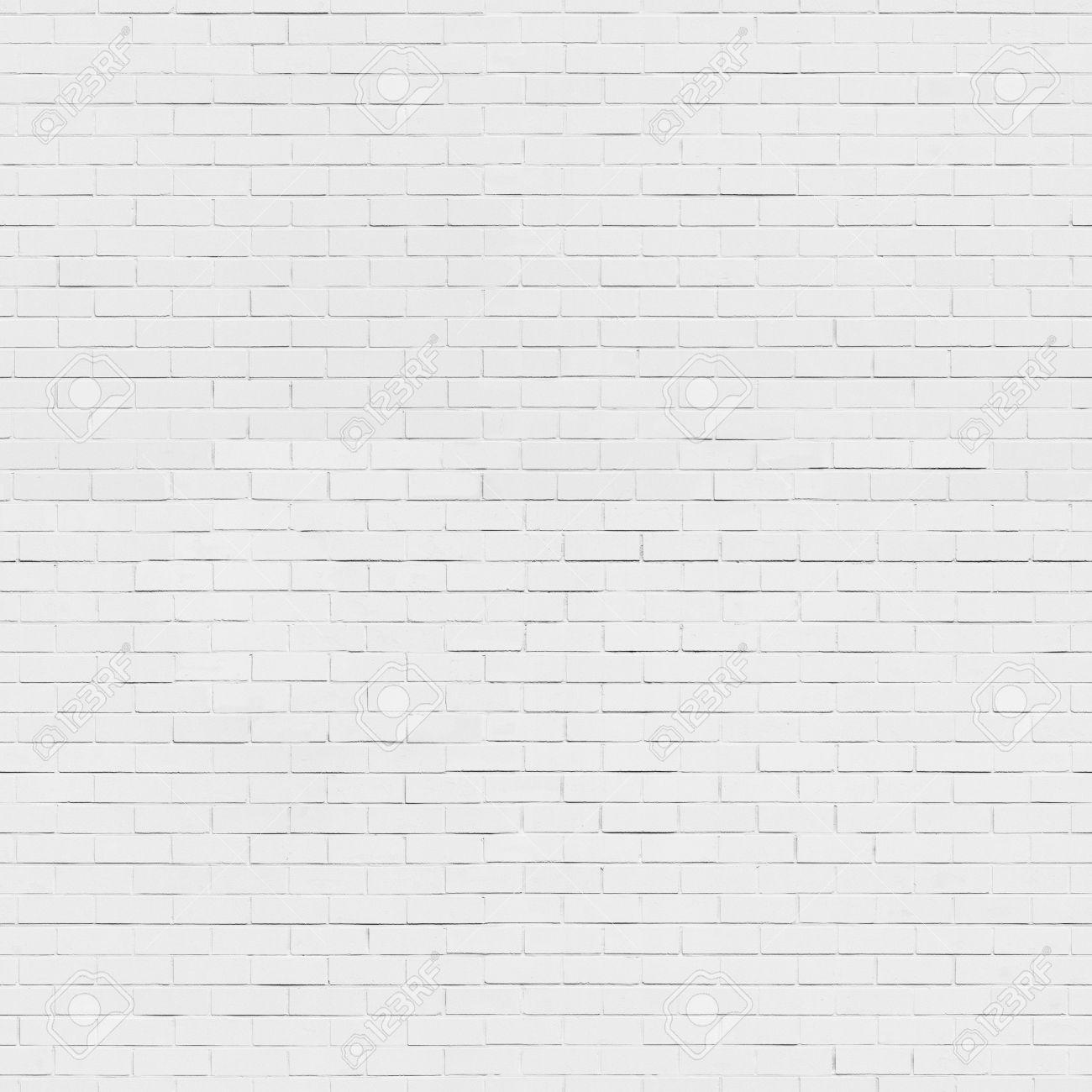 Seamless white brick wall background, texture Stock Photo - 38641507