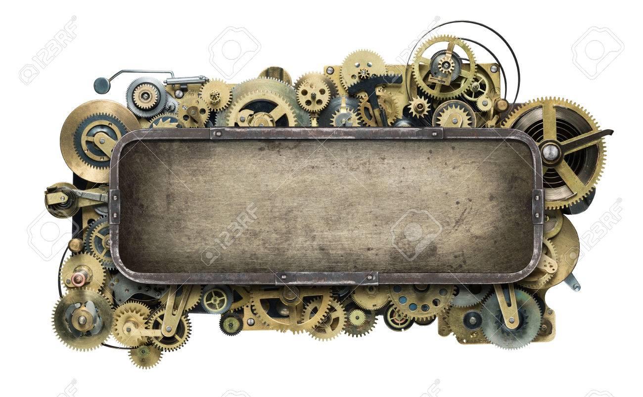 Stylized mechanical clockwork background. Stock Photo - 40592748
