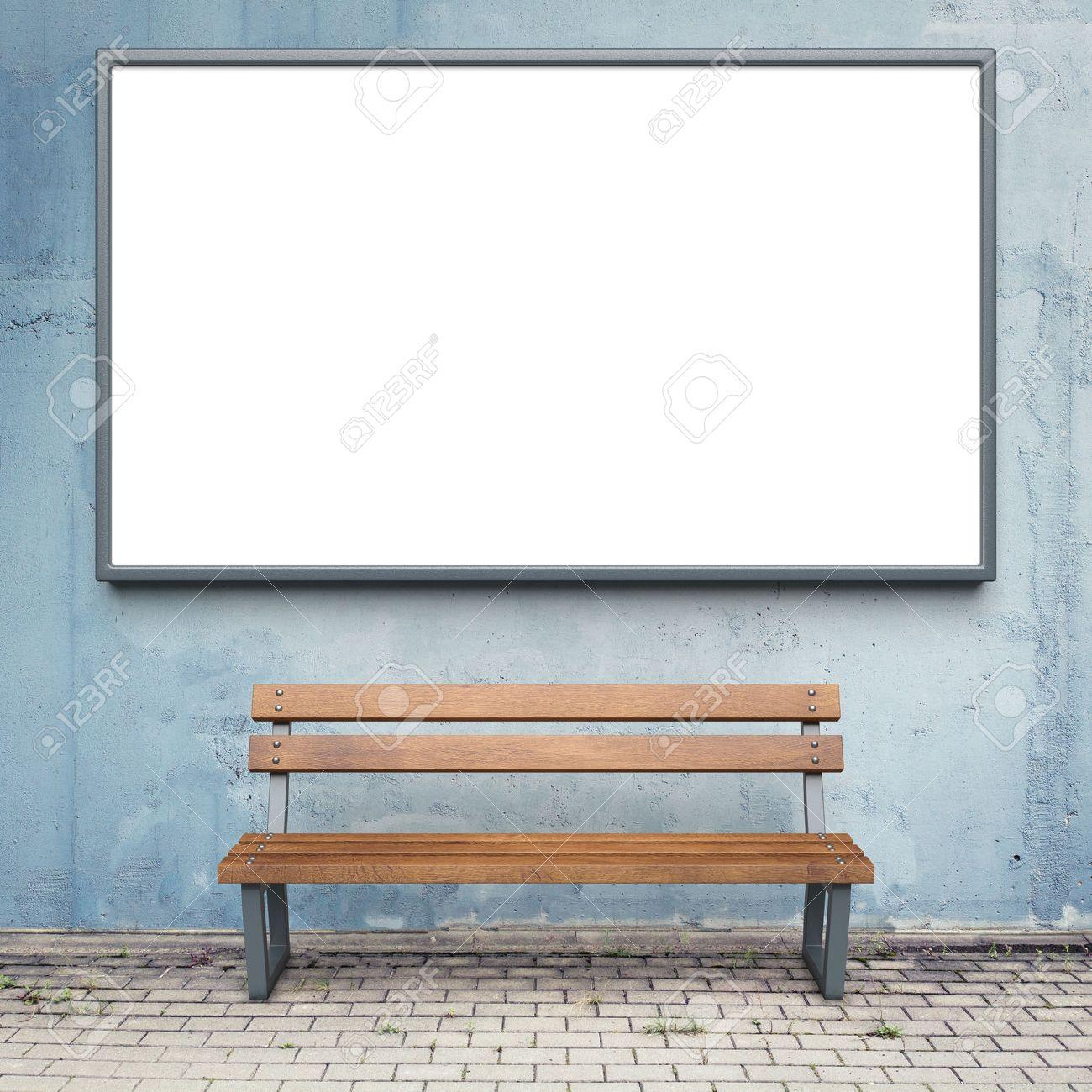 Blank advertising billboard on a street wall. Stock Photo - 42104071