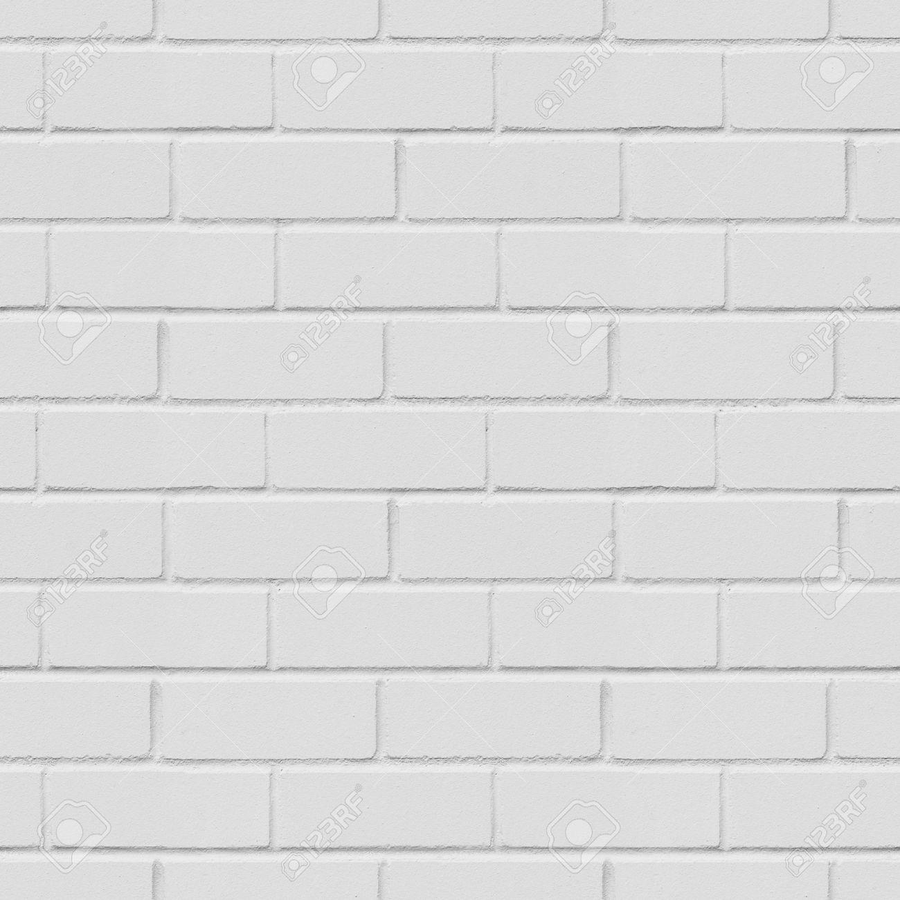 Seamless white brick wall background, texture Stock Photo - 42104117