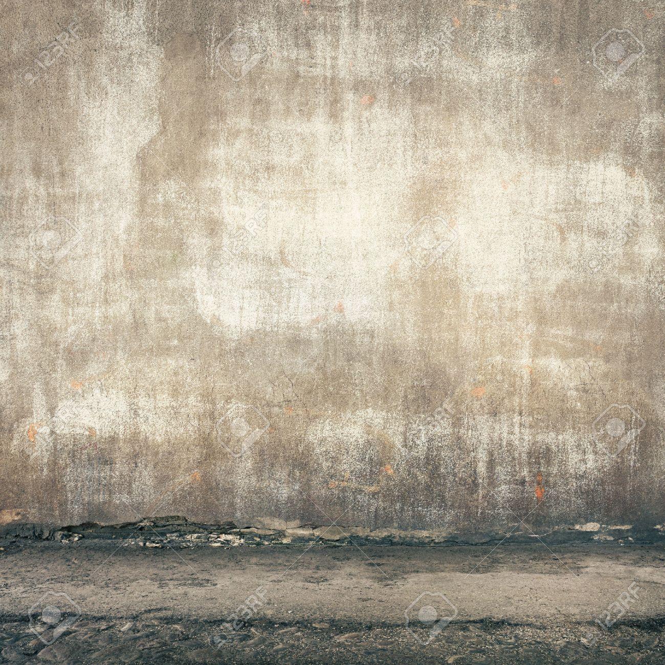 Urban background. Grunge obsolete street wall. Stock Photo - 44384009