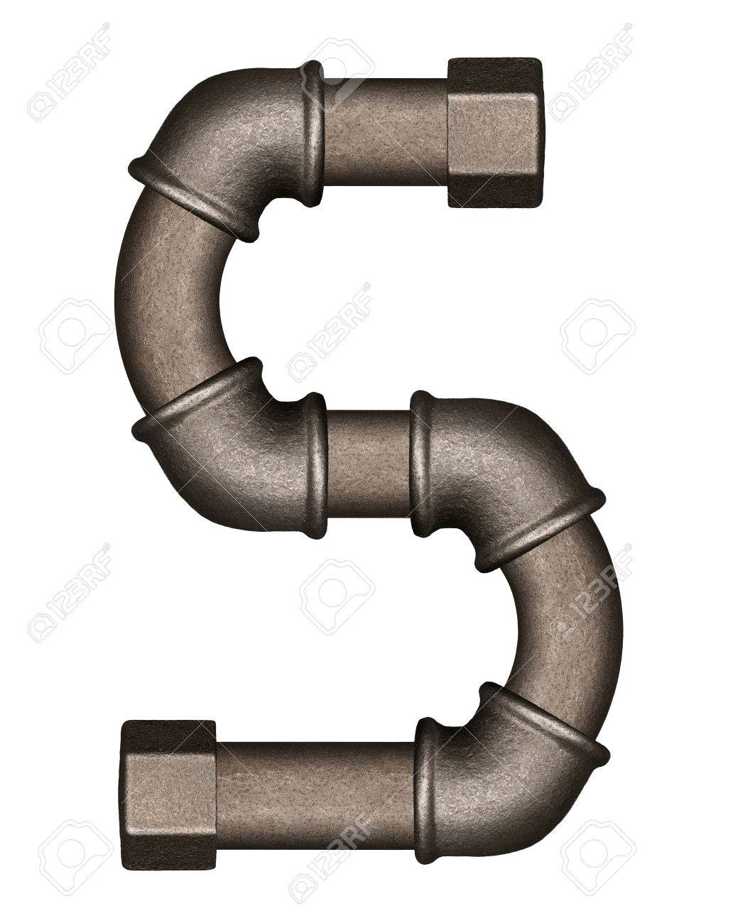 Industrial metal pipe alphabet letter S Stock Photo - 58738495  sc 1 st  123RF.com & Industrial Metal Pipe Alphabet Letter S Stock Photo Picture And ...