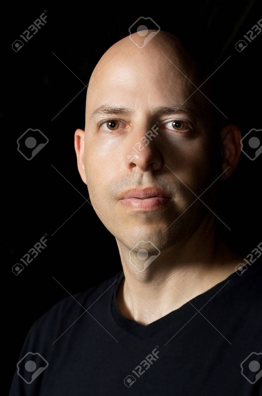 Low-key Rembrandt lighting portrait of a 40 year old man on black background Stock  sc 1 st  123RF Stock Photos : rembrandt portrait lighting - azcodes.com