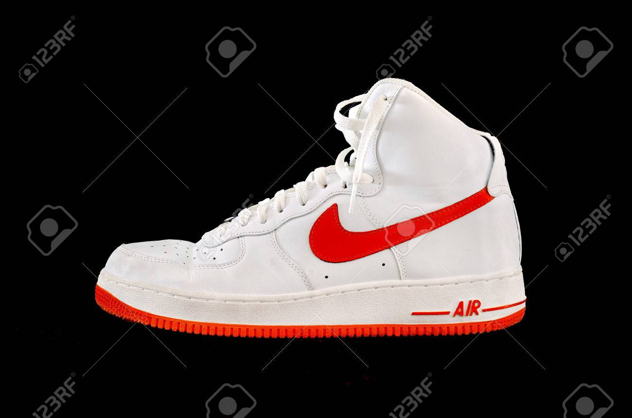 Clásico Fuerza Blanco La 1 Y Aérea De Af Naranja Un Nike Bota 70aqdq