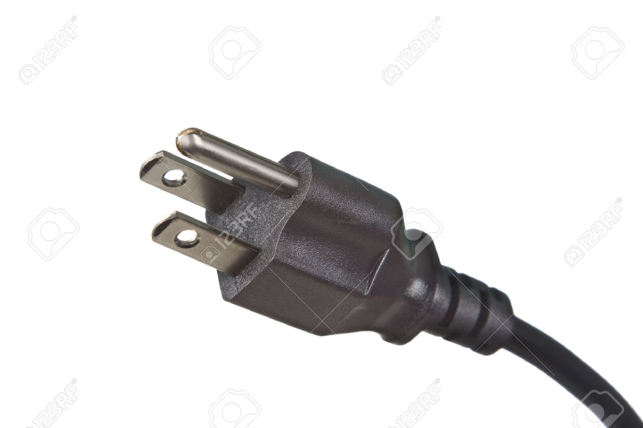 Electrical Plug 120 Volts On White Background Stock Photo, Picture ...