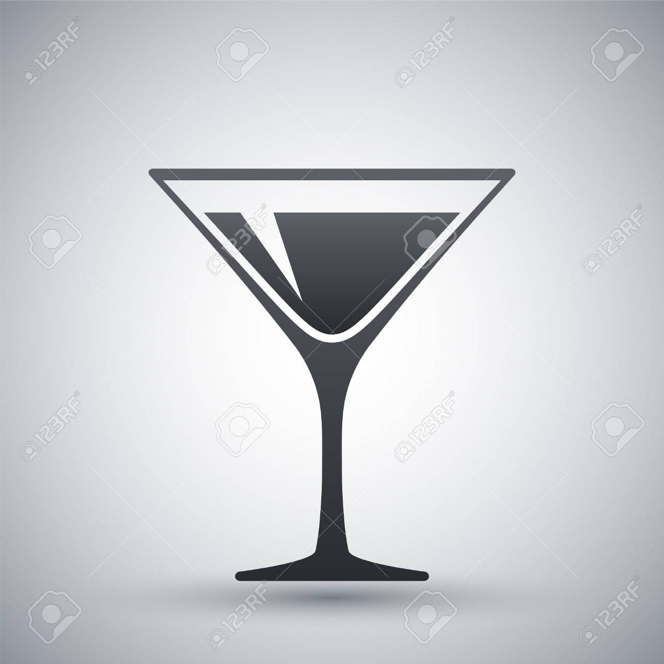 martini glass icon vector royalty free cliparts vectors and stock rh 123rf com