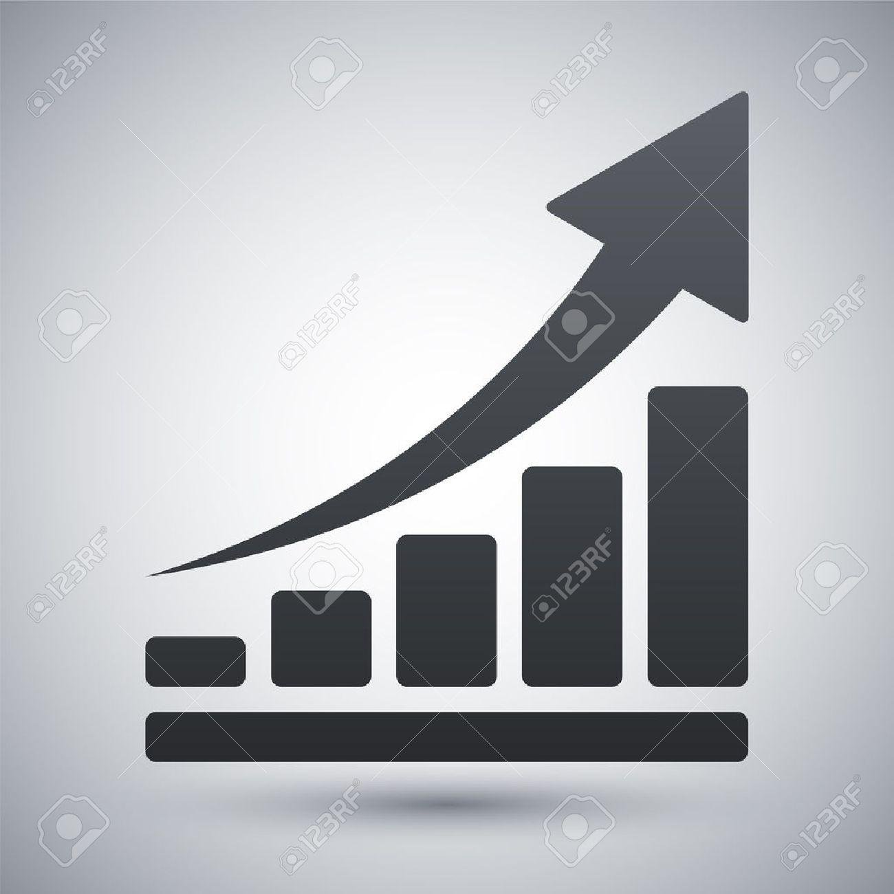 Vector growing graph icon - 41237285