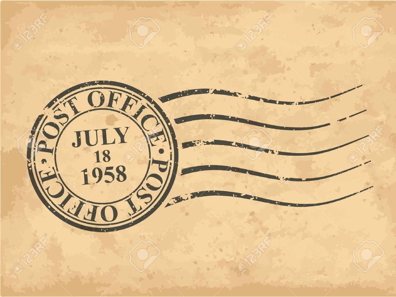 Grungy postal stamp illustration - 41720305