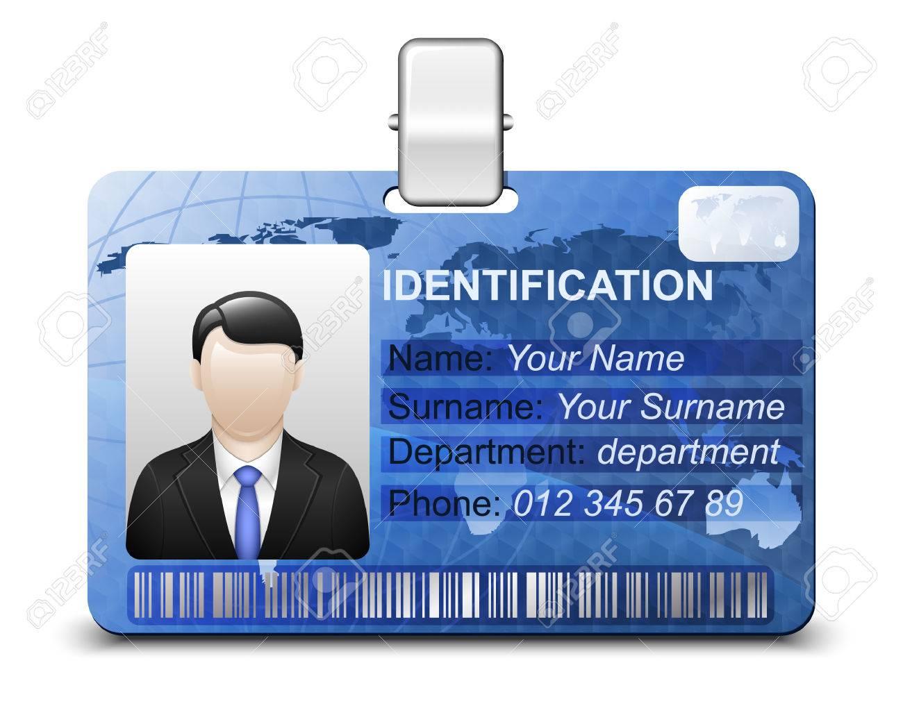 Identification card icon. Vector illustration - 41966902