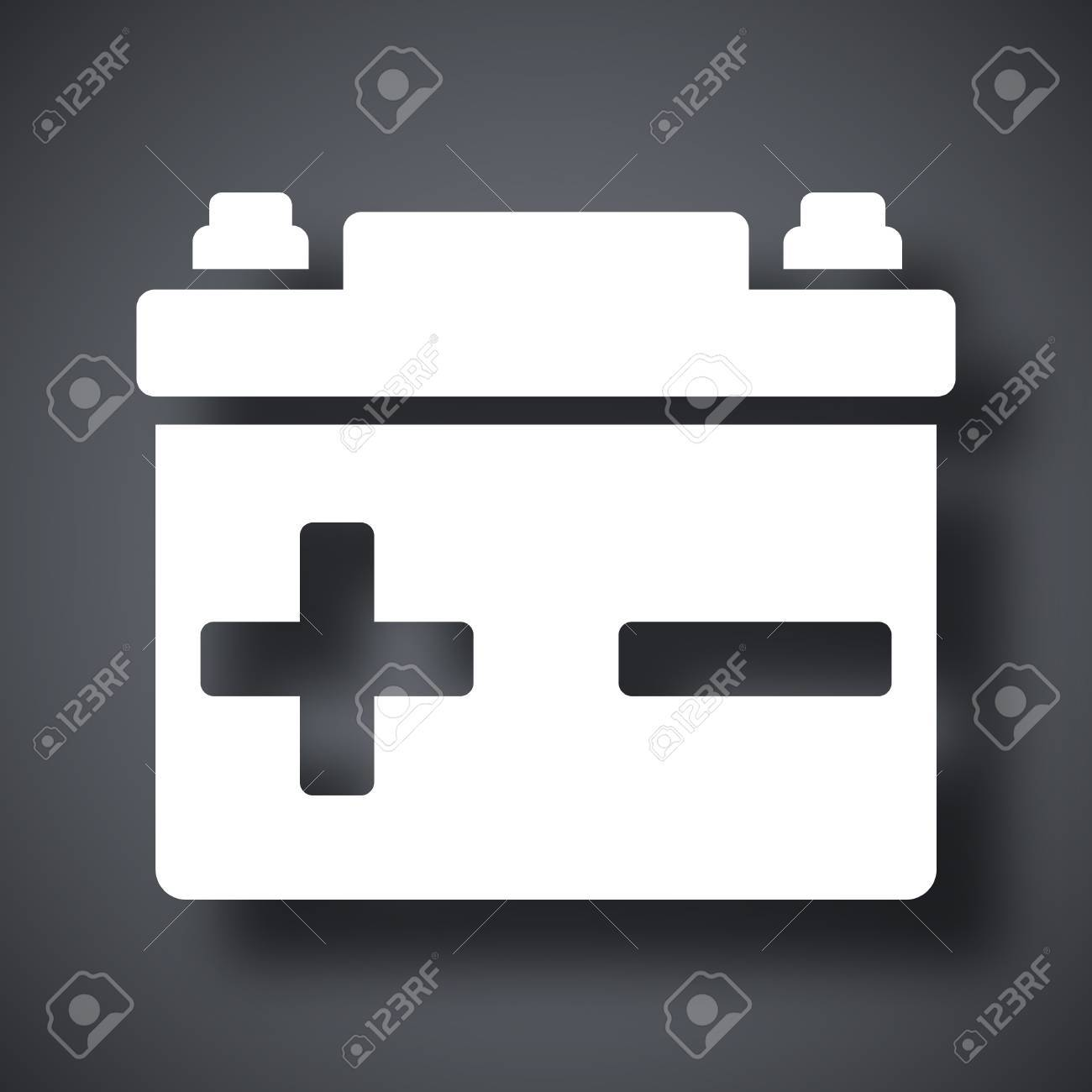 Vector Car Battery Icon Royalty Free Cliparts, Vectors, And Stock ... for Car Battery Symbol  584dqh