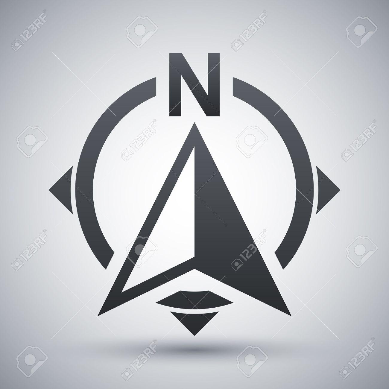 North direction compass icon - 50904129