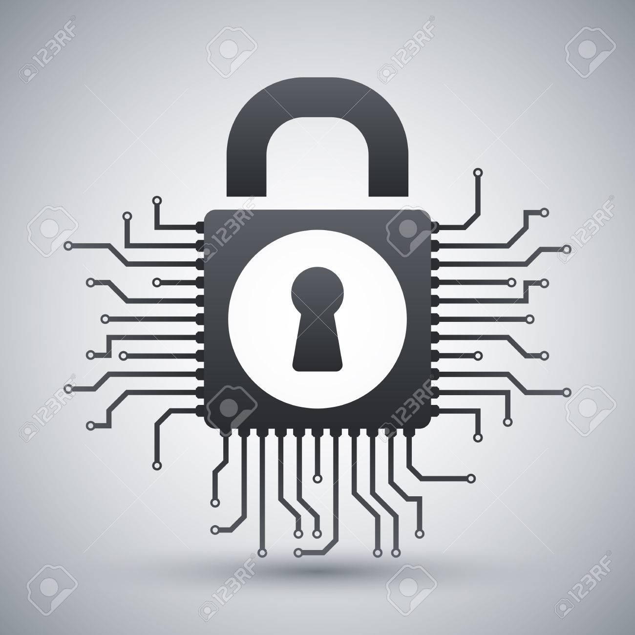 information security concept icon - 50904131