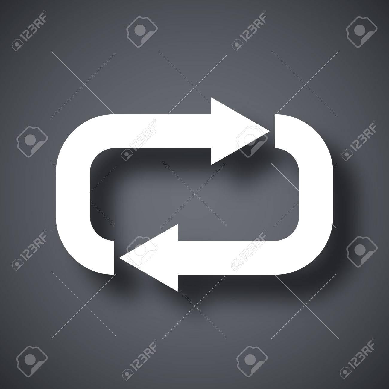 Vector repeat icon - 51355271