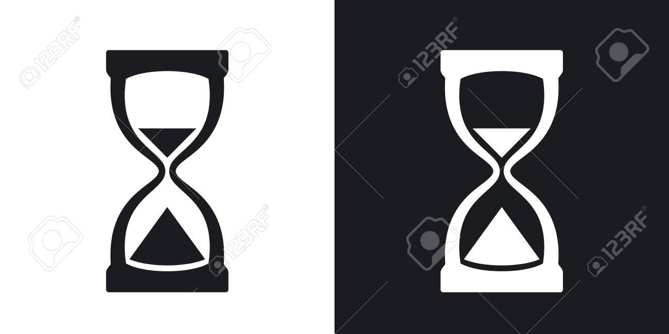 Icono De Reloj De Arena Vector Versión De Dos Tonos Con El Fondo