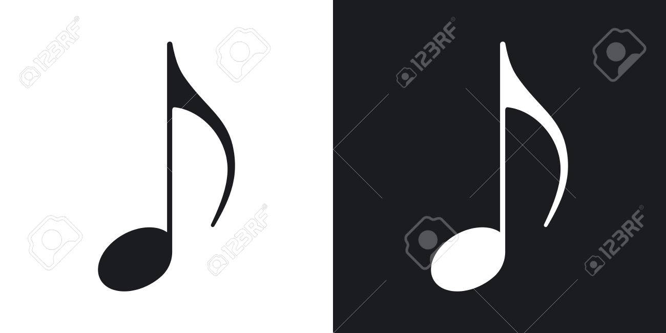 Music note icon vector two tone version on black and white music note icon vector two tone version on black and white background stock altavistaventures Images