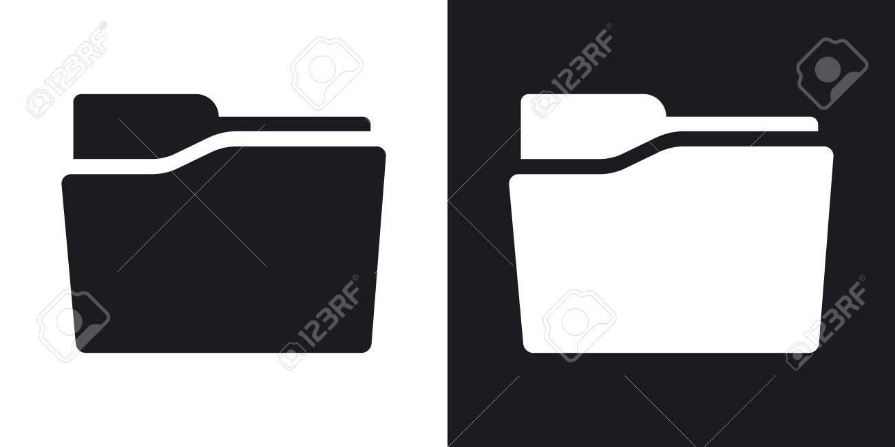 folder icon black and white. Brilliant And Vector  Folder Icon Twotone Version On Black And White Background In Folder Icon Black And White R