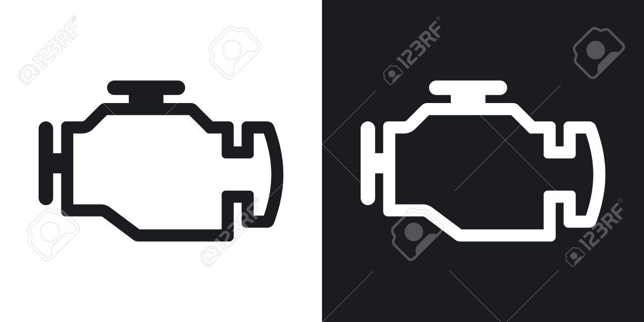 Motor-Symbol. Zwei-Ton-Version Auf Schwarzem Und Weißem Hintergrund ...