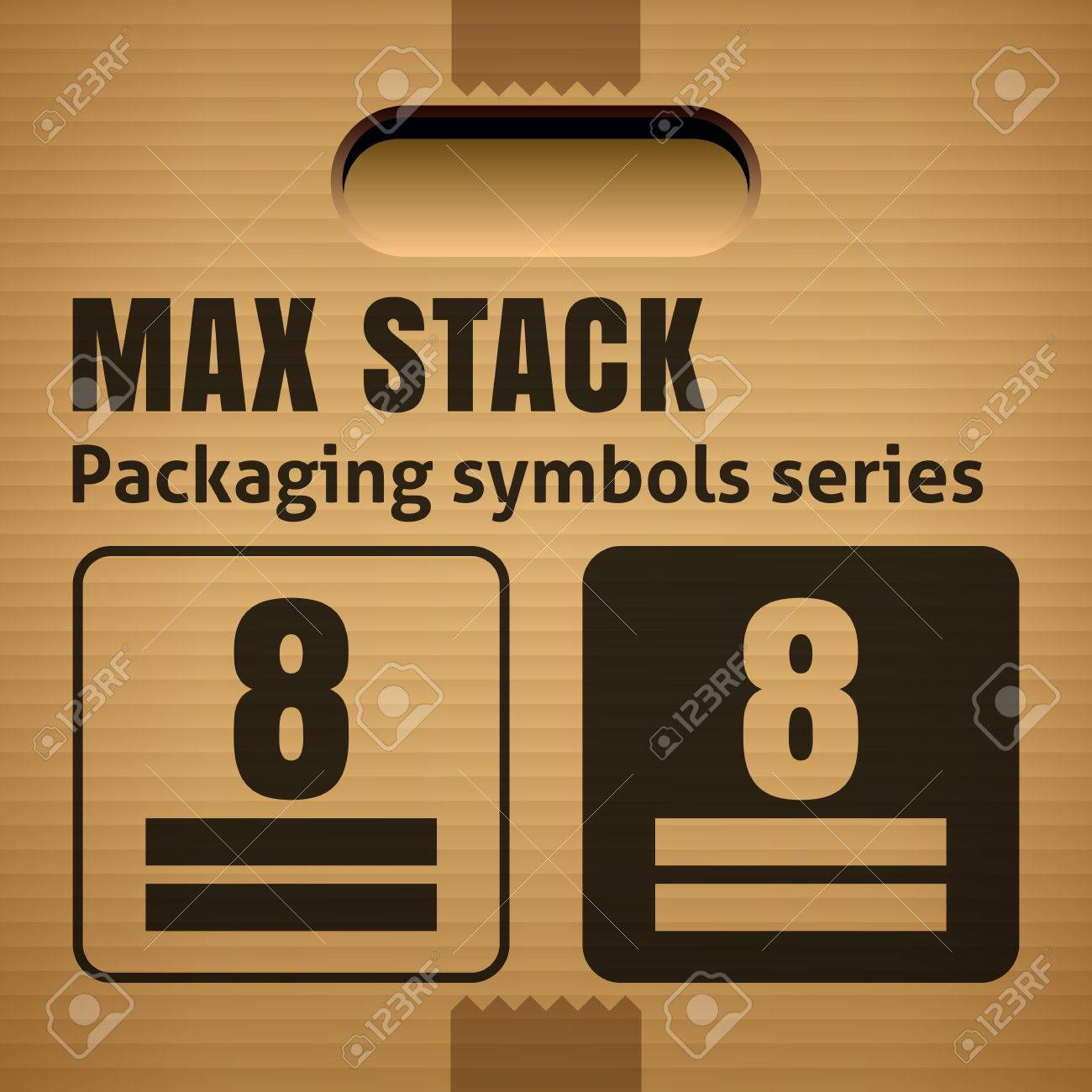 Max stack or weight stacking limitation packaging symbol on a max stack or weight stacking limitation packaging symbol on a corrugated cardboard box for use biocorpaavc Choice Image
