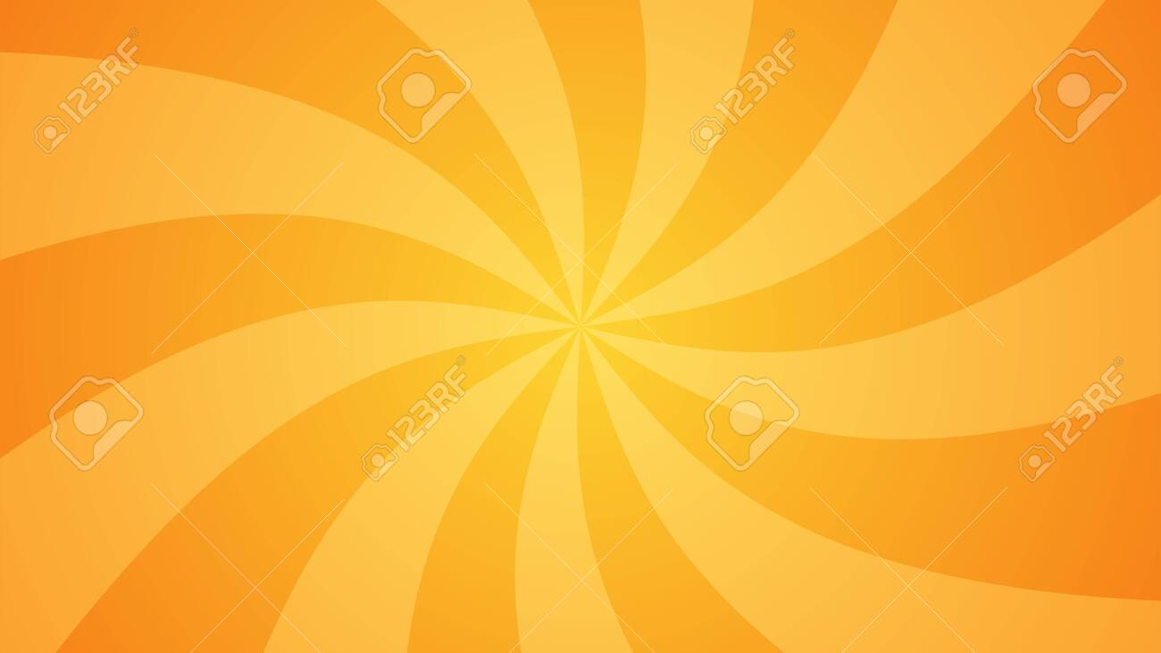 Orange abstract comic book background. Rays, spiral. The classic gradient. Vector illustration. - 145930707
