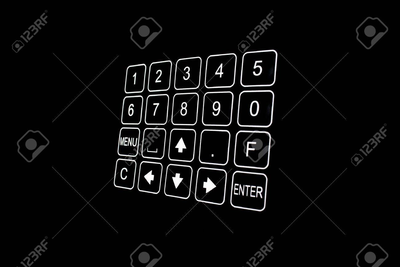 Detail view of black security door keypad taken in a office Stock Photo - 10666186