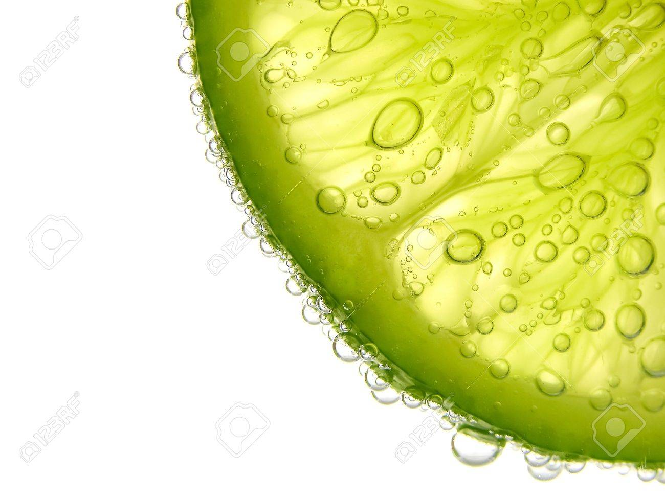 closeup a half lime on white background - 18334264