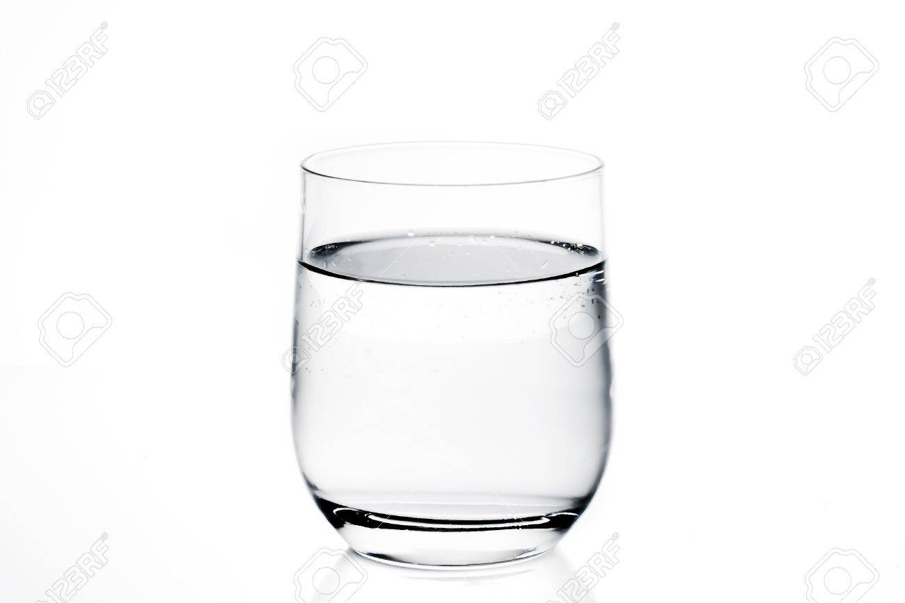 glass of water on white background - 20271999