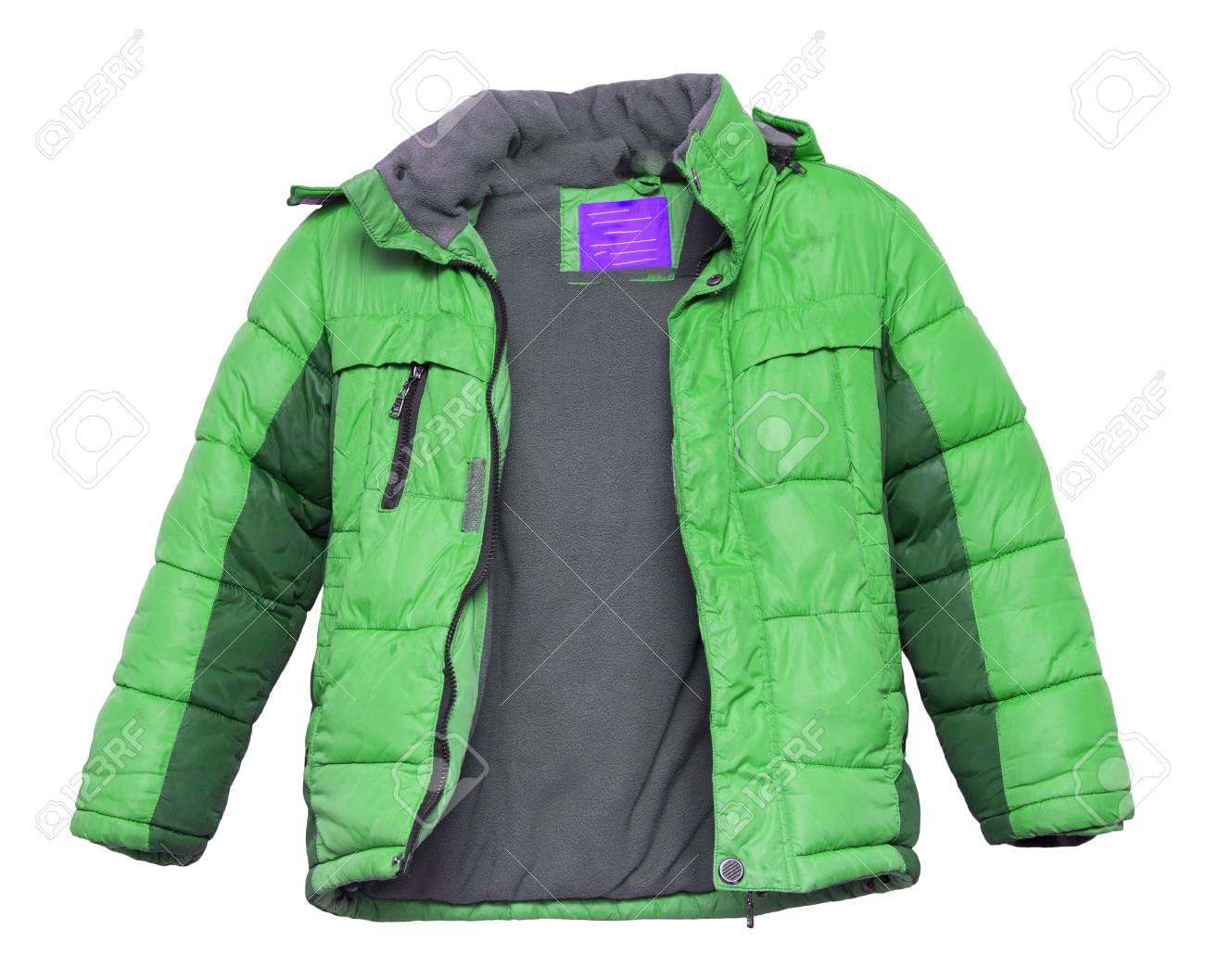 b22f9c0c7 Children s Winter Jacket Isolated On White Background Stock Photo ...
