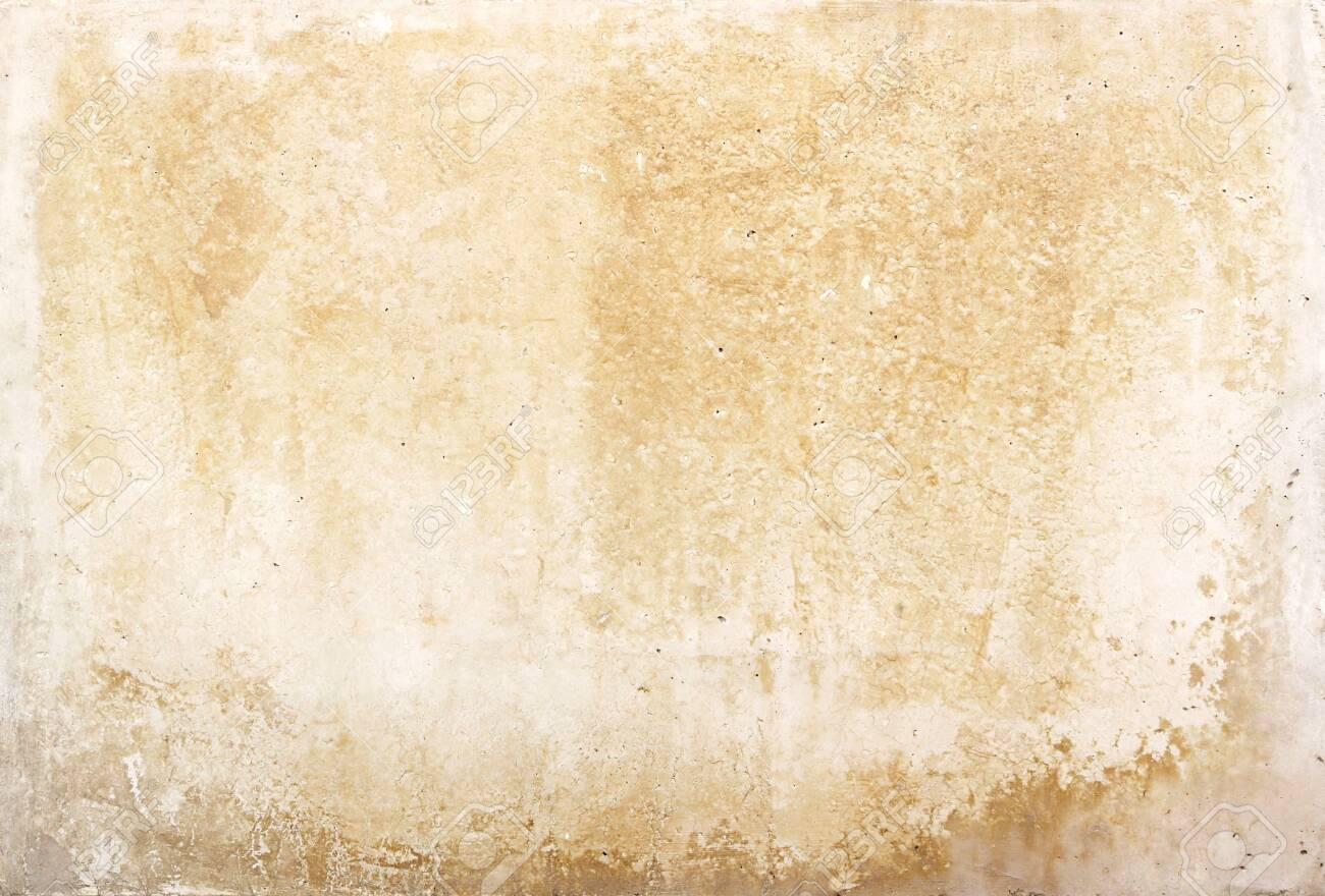 old blank stone wall or dirty paper texture background in white or beige color with moisture - 147809657