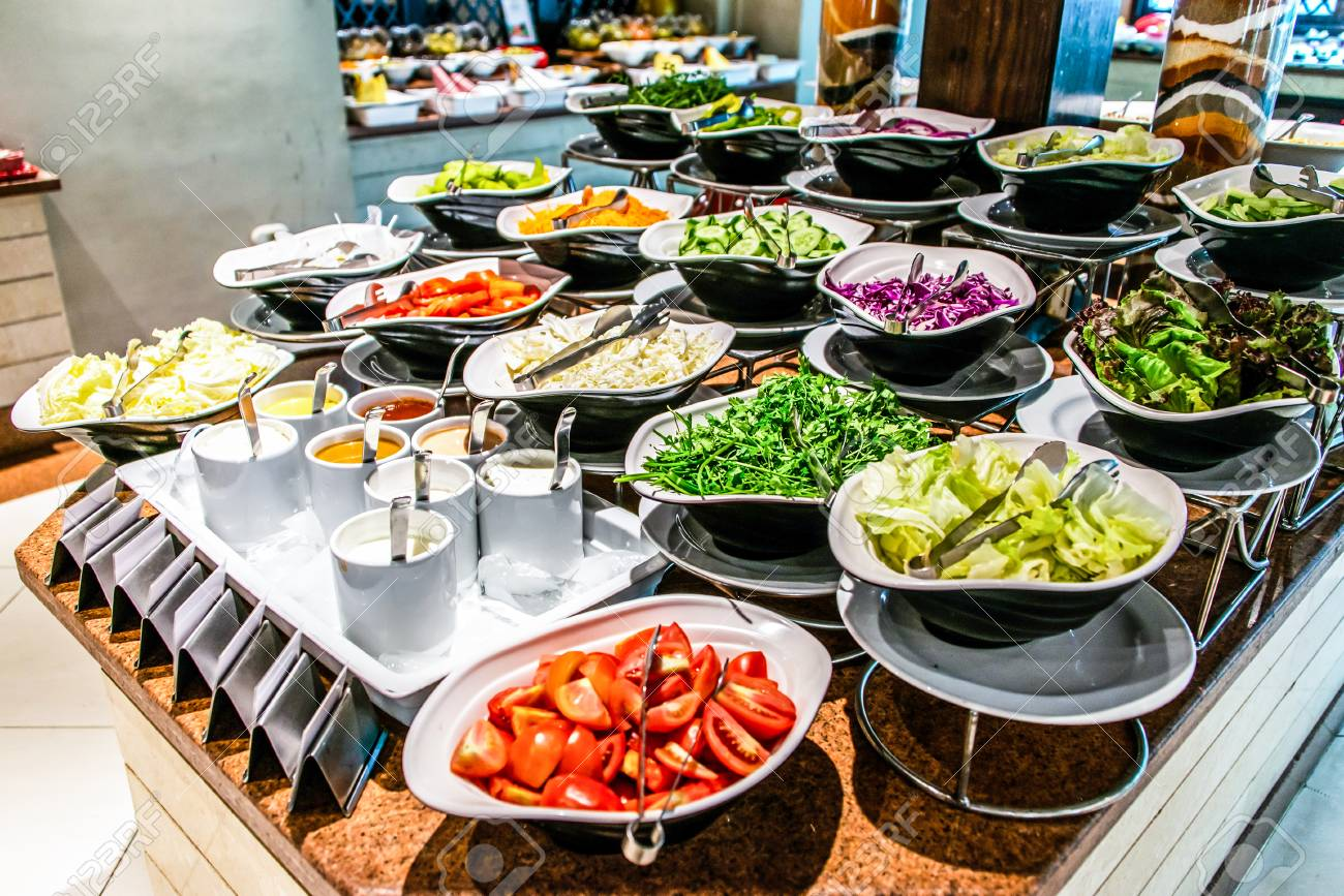 Assortment Fresh Vegetable Salads Vegetarian Buffet Tasty Side Stock Photo Picture And Royalty Free Image Image 115563148