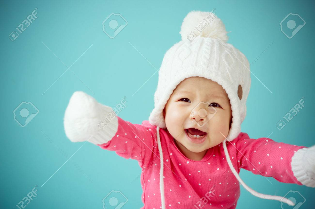 c17857c5f New Born In Warm Clothes Stock Photo