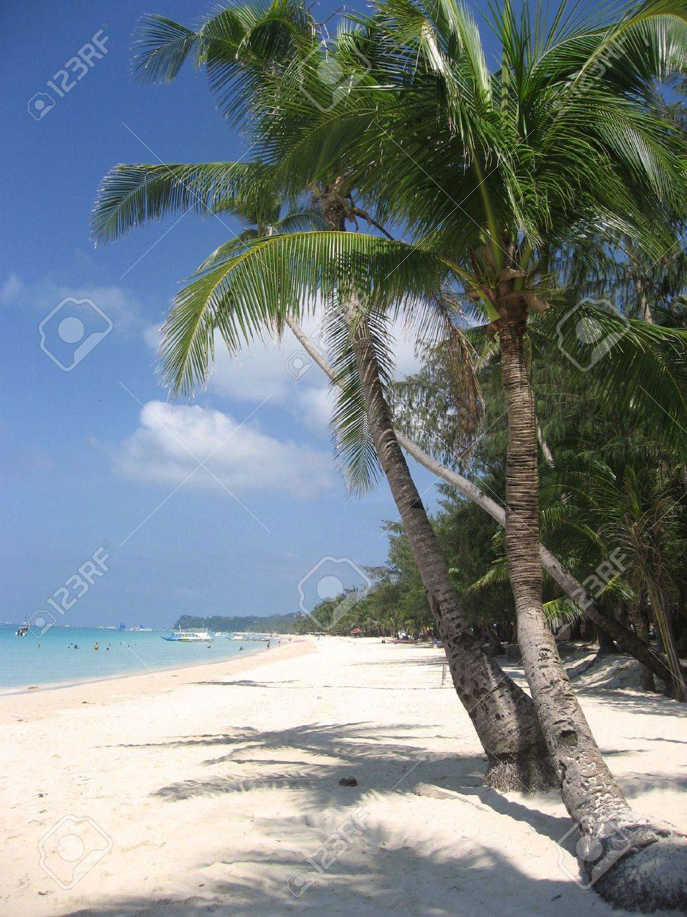 fine white sand beach of boracay in the philippines Stock Photo - 6558060