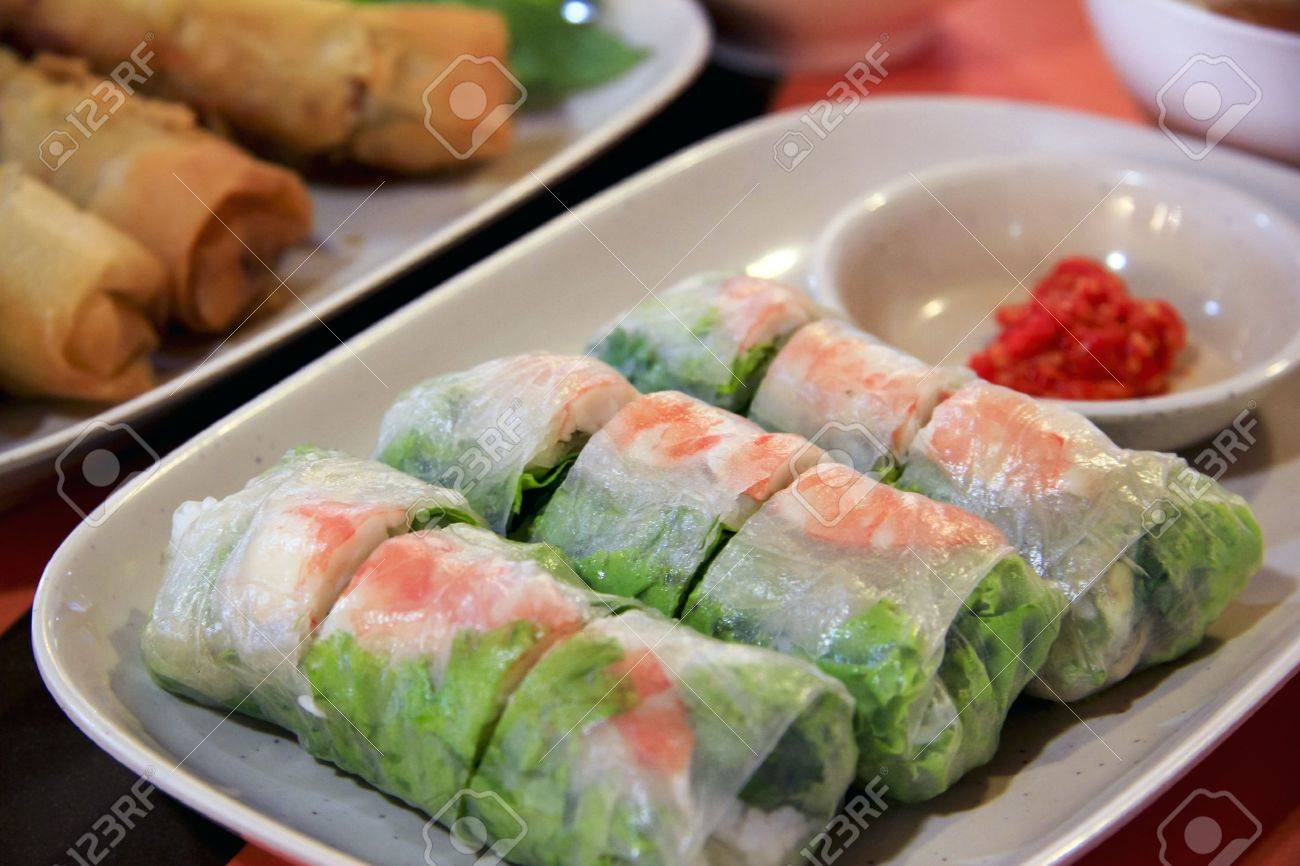 Spring Roll Stock Photos And Images 123rf