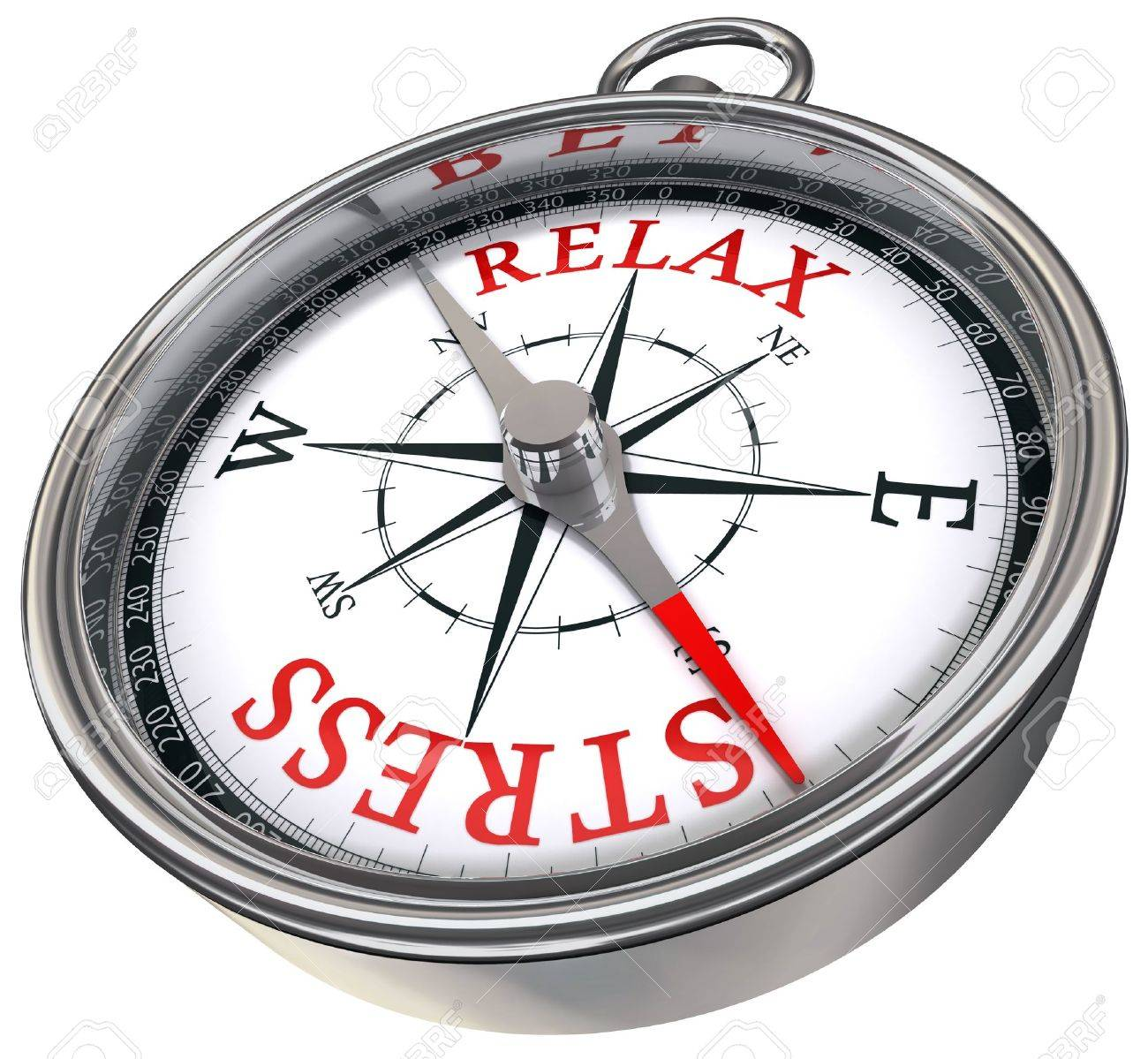 relax stress red words on compass conceptual image Stock Photo - 10906214