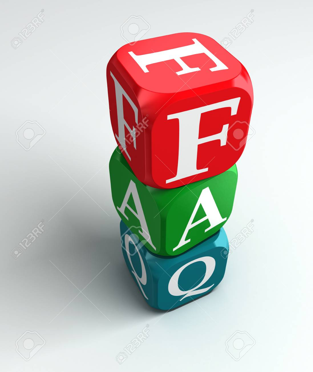 faq 3d colorful buzzword on white background Stock Photo - 11058584